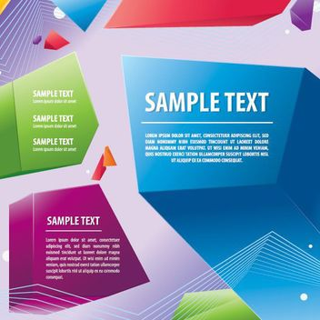 Colorful 3D Prism Message Background - vector gratuit #162759