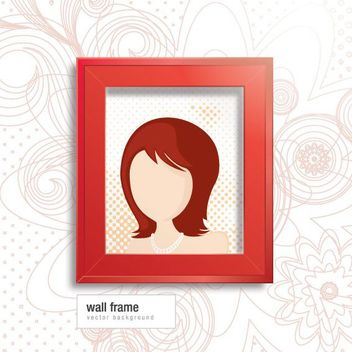 Wall Frame Funky Swirls Background - Free vector #162779