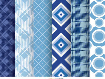 6 Retro Checked Patterns - vector #162829 gratis