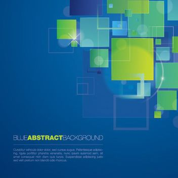 Modern Blue Abstract Squares Background - vector #162889 gratis