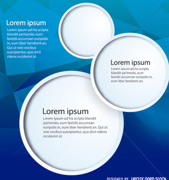 Blue Background circle frames - vector #162949 gratis