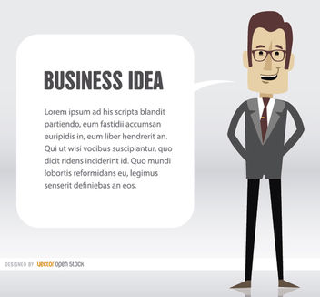 Business man idea cloud - vector gratuit #163049