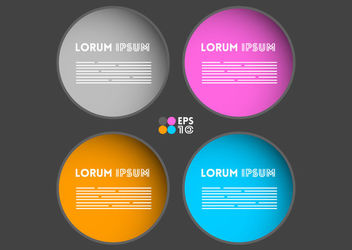 Multicolored Rounded Text Boxes - vector gratuit #163069