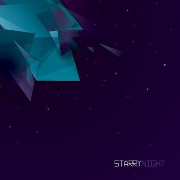 Starry Night Geometric Shapes Background - vector gratuit #163089
