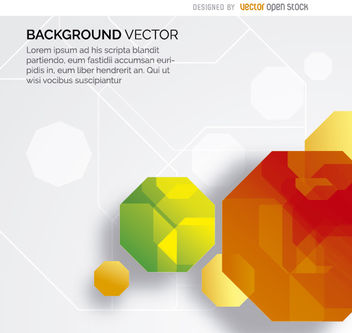 Abstract octagon gems background - Free vector #163109