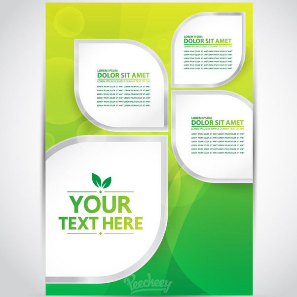 Creative Leafs Banner Brochure Template - Kostenloses vector #163269