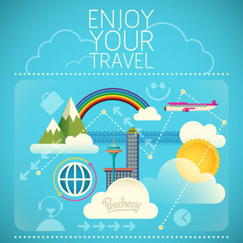 Abstract Travel Concept Background - vector gratuit #163309