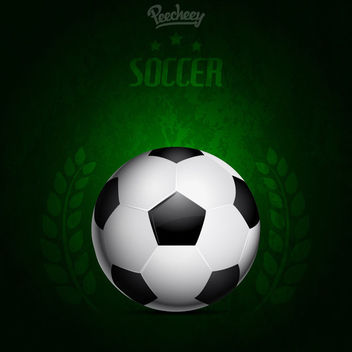 Green Background Grungy Soccer Poster - Free vector #163319