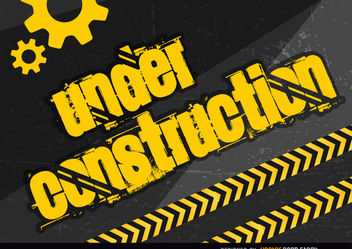 Under construction placard - vector gratuit #163379