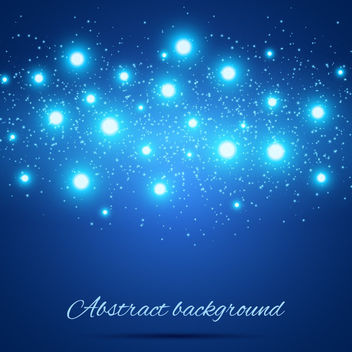 Abstract Shiny Glares Blue Background - vector gratuit(e) #163439