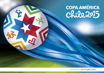 Copa America stadium ball wake - vector gratuit #163449