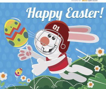 Easter bunny football egg - Free vector #163569
