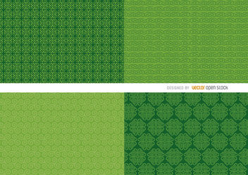 4 St. Patrick's green background patterns - Free vector #163639