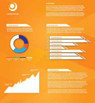 Beautiful Business Orange Infographic - Free vector #163699