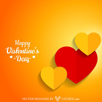 Two Folds Paper Made Valentine Hearts - Free vector #163829
