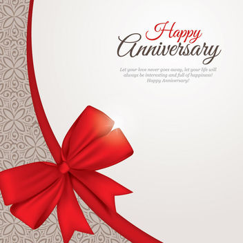Beautiful Anniversary Card Template - Free vector #163899