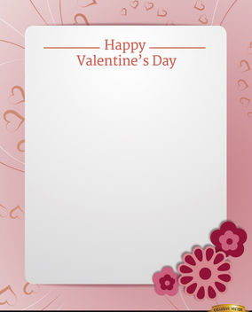 Pink Valentine's card text message - Free vector #164059