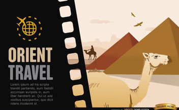 Travel to Egypt background - Free vector #164109