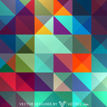 Abstract Colorful Triangles Pattern - vector gratuit #164139