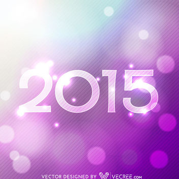 2015 Pink Purple Glowing Bokeh Background - vector gratuit #164149