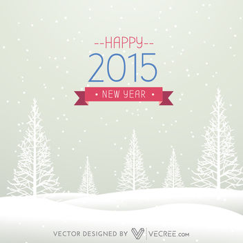 Vintage New Year card on Winter Xmas Background - Free vector #164169