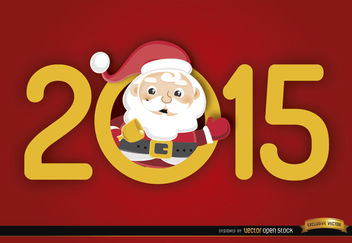 2015 number Santa inside - Free vector #164219