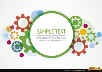Colored gears background - Free vector #164379