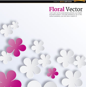 Pink and white flowers background - vector gratuit #164559
