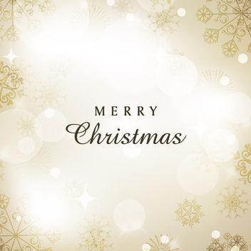 Elegant Christmas Background with Snowflakes - Free vector #164819