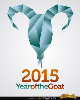 2015 origami goat head background - vector gratuit(e) #164839