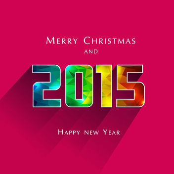 Polygonal Typography Christmas & New Year Greeting - vector gratuit #164869
