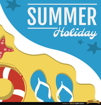 Summer holidays beach - Free vector #164949