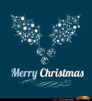 Merry Christmas mistletoe background - Free vector #165289