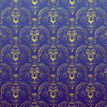 Golden Antique Damask Seamless Pattern - Kostenloses vector #165469