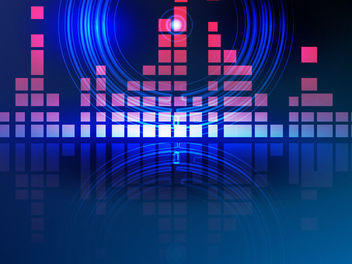 Pink Bars Blue Circles Abstract Digital Background - Free vector #165489