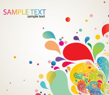 Colorful Abstract Swirls & Paint Splashes - Free vector #165699