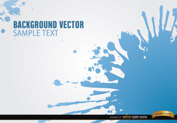 Blue spots of paint background - vector gratuit #165799