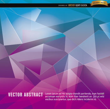 Purple blue abstract polygon background - vector #166089 gratis