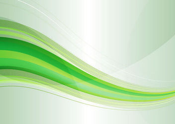 Modern Abstract Green Waves on Grey Background - Free vector #166099