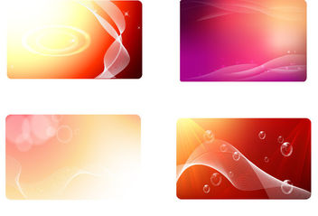 Glowing Red Business Card Background Set - Free vector #166169