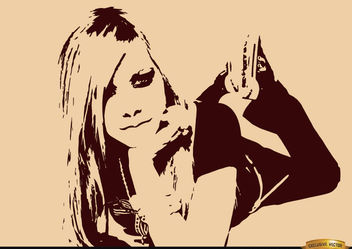 Avril Lavigne drawing wallpaper - бесплатный vector #166219