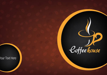 Hot Coffee Cup Background with Beans - vector gratuit #166279