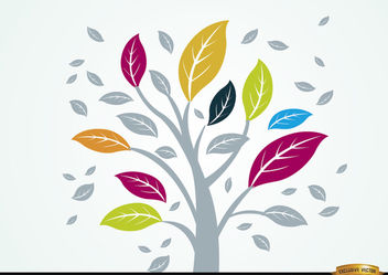 Pale plant with colorful leaves - vector gratuit #166419