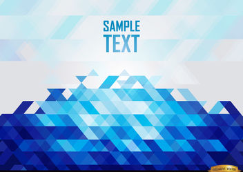 Abstract Blue polygons background - vector gratuit #166429