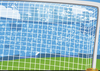 Football goalposts cartoon background - vector gratuit #166489