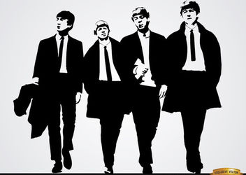 The Beatles band wallpaper - vector gratuit #166529
