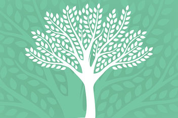 Eco-Friendly Silhouette Tree Background - vector gratuit #166579