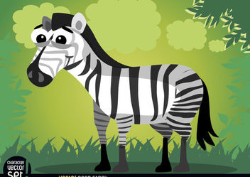 Smiling cartoon zebra animal - Free vector #166589