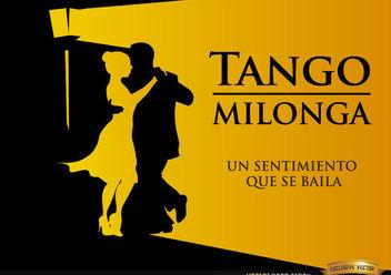 Pareja bailando Tango Milonga fondo - Free vector #166609
