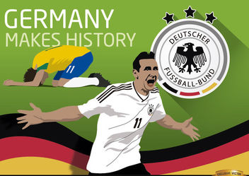 Germany triumphs over Brazil makes history - Free vector #166629